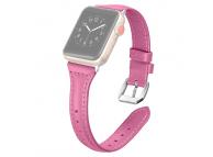 Curea piele T-shaped pentru Apple Watch Series 4 / 5 44mm, Roz, Bulk