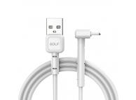 Cablu Date si Incarcare USB la Lightning Golf GC-69I, 1 m, Alb, Blister
