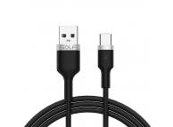 Cablu Date si Incarcare USB la USB Type-C Golf GC-71c, 1 m, Negru, Blister