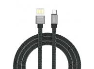 Cablu Date si Incarcare USB la MicroUSB Golf GC-73m, 1 m, Gri, Blister