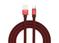 Cablu Date si Incarcare USB la MicroUSB Golf GC-73m, 1 m, Rosu, Blister