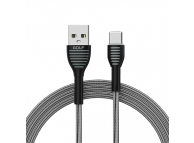 Cablu Date si Incarcare USB la USB Type-C Golf GC-74t, 1 m, Gri, Blister