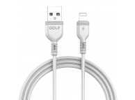 Cablu Date si Incarcare USB la Lightning Golf GC-75I, 1 m, Alb, Blister