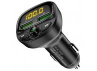 Emitator FM Bluetooth si MP3 Player AUTO cu buton Apel Floveme HY-87, Negru, Blister