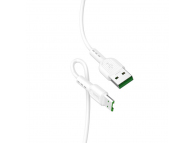 Cablu Date si Incarcare USB la MicroUSB HOCO X33 Surge flash, 4A, 1 m, Alb, Blister