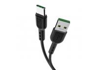 Cablu Date si Incarcare USB la USB Type-C HOCO X33 Surge, 5A, 1 m, Negru, Blister