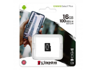 Card Memorie MicroSDHC Kingston Canvas Select Plus, 16Gb, Clasa 10 - UHS-1 U1, Blister SDCS2/16GBSP