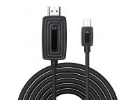 Cablu Audio si Video HDMI la USB Type-C OEM TY-04, 4K, 2 m, Negru, Blister
