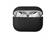 Husa TPU pentru Apple Airpods 1 / 2 Uniq Lino, Neagra, Blister