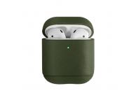 Husa Piele pentru Apple Airpods 1 / 2 Uniq Terra, Verde, Blister
