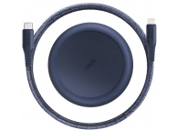Cablu Date si Incarcare USB la USB Type-C UNIQ Halo, cu Organizator, 1.2 m, Bleumarin, Blister