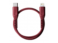 Cablu Date si Incarcare USB Type-C la Lightning UNIQ Flex, 0.3 m, Rosu, Blister