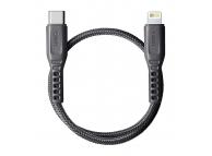 Cablu Date si Incarcare USB Type-C la Lightning UNIQ Flex, 0.3 m, Gri, Blister