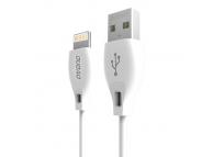 Cablu Date si Incarcare USB la Lightning Dudao L4L, 2.1A, 2 m, Alb, Blister