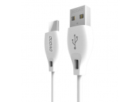 Cablu Date si Incarcare USB la USB Type-C Dudao L4T, 2.4A, 2 m, Alb, Blister