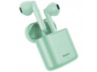 Handsfree Casti Bluetooth Baseus TWS Encok W09 mini wireless, Bluetooth 5.0, Verde, Blister  NGW09-06