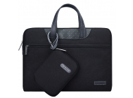 Set Geanta textil laptop 14 - 15.4 inci + Borseta mana Cartinoe Lamando, Neagra, Bulk