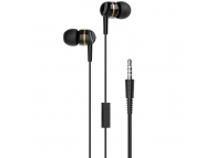 Handsfree Casti In-Ear - On-Ear HOCO W24, Cu microfon, 3.5 mm, Auriu, Blister