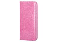 Husa Piele Forcell SHINING Book pentru Apple iPhone 11 Pro, Roz, Bulk