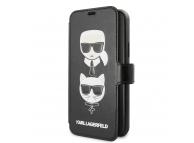 Husa TPU Karl Lagerfeld Cardslots pentru Apple iPhone 11, Neagra, Blister KLFLBKSN61FKICKC