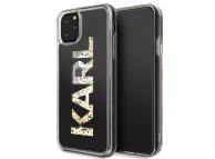 Husa TPU Karl Lagerfeld Glitter pentru Apple iPhone 11 Pro Max, Aurie, Blister KLHCN65KAGBK