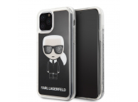 Husa TPU Karl Lagerfeld Iconic pentru Apple iPhone 11 Pro Max, Neagra, Blister KLHCN65ICGBK