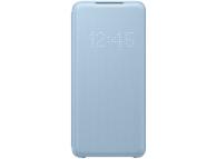 Husa Textil Samsung Galaxy S20 G980 / Samsung Galaxy S20 5G G981, Led View, Albastra EF-NG980PLEGEU
