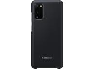 Husa Samsung Galaxy S20, Led Cover, Neagra, Blister EF-KG980CBEGEU