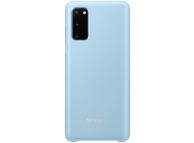 Husa Samsung Galaxy S20, Led Cover, Albastra, Blister EF-KG980CLEGEU