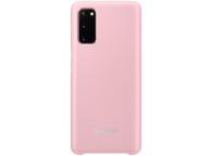 Husa Samsung Galaxy S20, Led Cover, Roz, Blister EF-KG980CPEGEU