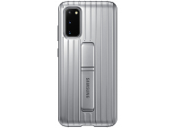 Husa Plastic Samsung Galaxy S20 G980 / Samsung Galaxy S20 5G G981, Standing, Argintie EF-RG980CSEGEU