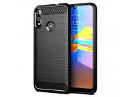 Husa TPU OEM Carbon pentru Motorola Moto E6 Plus, Neagra