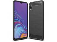 Husa TPU OEM Carbon pentru Samsung Galaxy A10 A105, Neagra, Blister