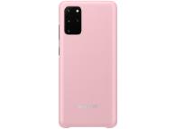 Husa Samsung Galaxy S20 Plus, Led Cover, Roz, Blister EF-KG985CPEGEU