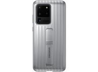 Husa Plastic Samsung Galaxy S20 Ultra G988 / Samsung Galaxy S20 Ultra 5G G988, Standing, Argintie EF-RG988CSEGEU