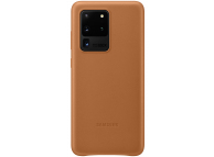 Husa Piele Samsung Galaxy S20 Ultra G988 / Samsung Galaxy S20 Ultra 5G G988, Leather Cover, Maro EF-VG988LAEGEU