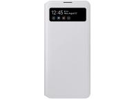Husa TPU Samsung Galaxy A71, S View Wallet, Alba, Blister EF-EA715PWEGEU
