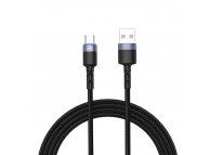 Cablu Date si Incarcare USB la USB Type-C Tellur LED, 3A, 1.2 m, Negru, Blister TLL155363