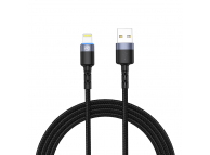Cablu Date si Incarcare USB la Lightning Tellur LED, 1.2 m, Negru, Blister TLL155373