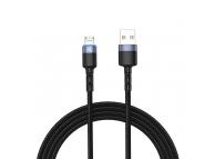Cablu Date si Incarcare USB la MicroUSB Tellur LED, 3A, 1.2 m, Negru, Blister TLL155353