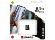 Card Memorie MicroSDXC Kingston Canvas Select Plus, 64Gb, Clasa 10 - UHS-1 U1, Blister SDCS2/64GBSP