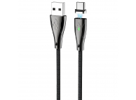 Cablu Incarcare USB la USB Type-C HOCO Magnetic U75, 1.2 m, Negru, Blister