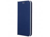 Husa Piele OEM Smart Venus Carbon pentru Samsung Galaxy A50 A505, Bleumarin, Bulk