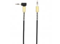 Cablu Audio 3.5 mm la 3.5 mm Tellur, 1.5 m, Conector L, Negru, Blister TLL311051