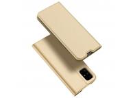 Husa Piele DUX DUCIS Skin Pro pentru Samsung Galaxy A51, Aurie, Blister
