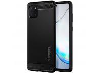 Husa TPU Spigen Rugged Armor pentru Samsung Galaxy Note 10 Lite N770, Neagra, Blister ACS00677