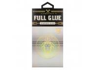 Folie Protectie Ecran OEM pentru Apple iPhone 11 Pro, Sticla securizata, Full Glue, HARD 5D, Neagra, Blister