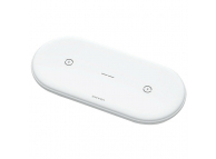 Incarcator Retea Wireless Usams 2in1 pentru telefon si Earbuds, 10W, Alb, Blister CD120JN01
