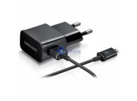 Incarcator Retea cu cablu MicroUSB Samsung ETAOU81EBE, 1A, 1 X USB, Negru, Swap, Bulk