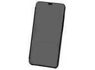 Husa Plastic OEM Clear View pentru Apple iPhone 6 / Apple iPhone 7 / Apple iPhone 8, Neagra, Blister